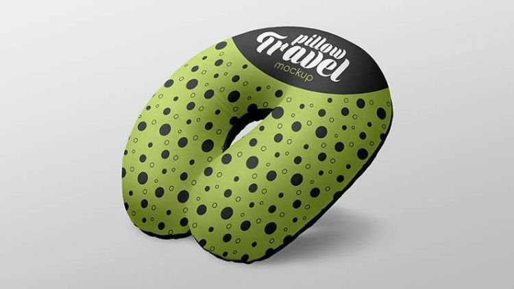 Clean Travel Pillow Free Mockup (PSD)
