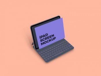 Clean iPad Screen Free Mockup