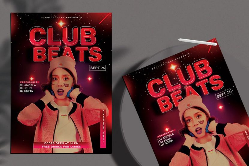 Club Party vol.7 Free Flyer Template (PSD)
