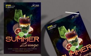 Cocktail Party Free Flyer Template (PSD)
