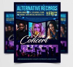 Concert Event Free Flyer Template (PSD)