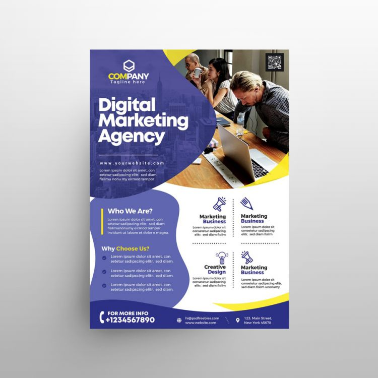 Creative Agency Free Business Flyer (PSD)