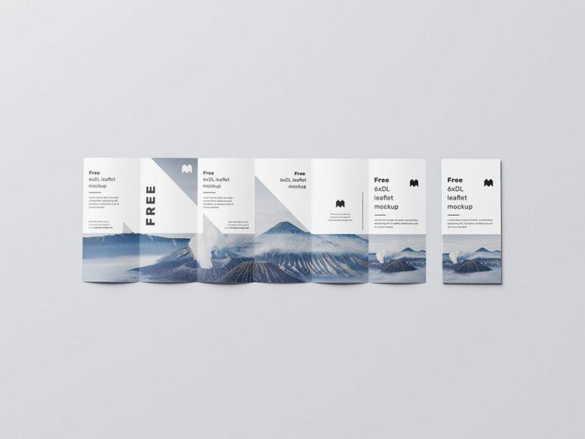 DL Brochure with Flyer Free Mockup