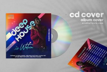 Deep Music Free Mixtape CD Cover Template (PSD)