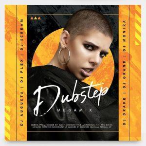 Dubstep Music Free Mixtape CD Cover Template (PSD)