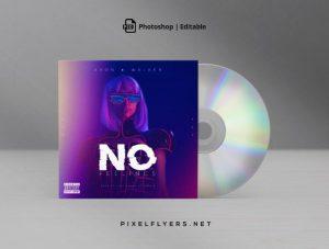 Electro EDM Free Mixtape CD Artwork Cover Template (PSD)