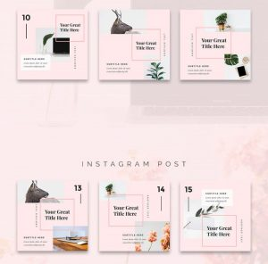 Forence Free Instagram Posts Templates (PSD)