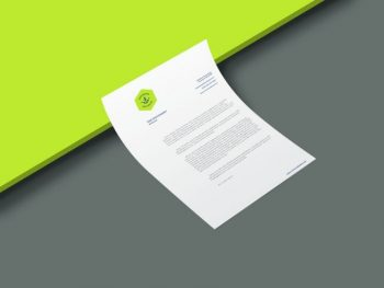 Free A4 Curled Flyer Mockup (PSD)