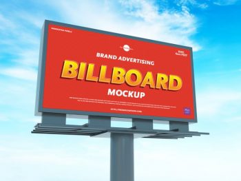 Free Advertising Billboard Mockup (PSD)