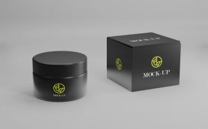 Free Elegant Cosmetic Jar Mockup (PSD)