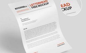 Free Flyer Letterhead Mockup (PSD)