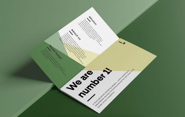 Free Open Trifold Brochure Mockup