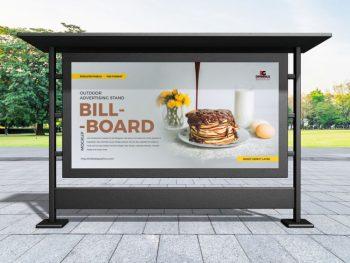 Free Outdoor Advertising Billboard Mockup