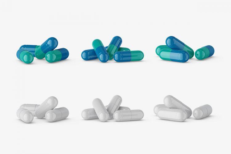 Free Pharmaceutical Pills Mockup (PSD)
