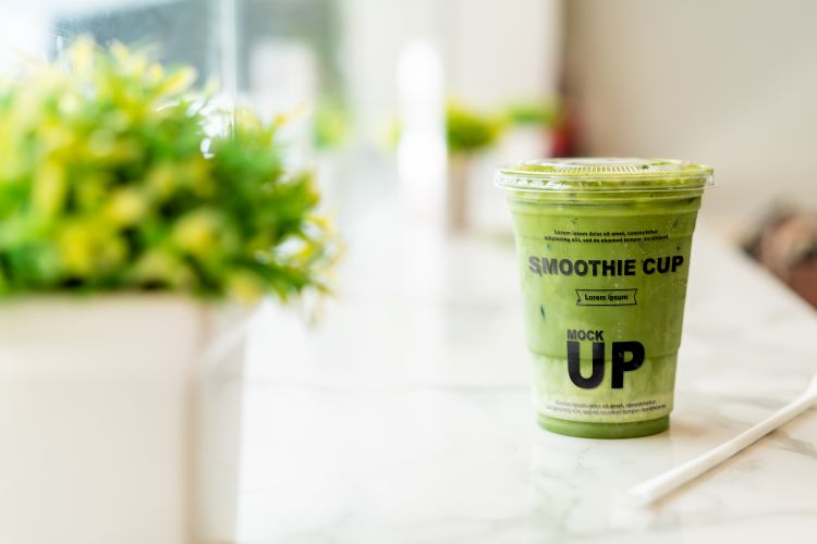 Free Smoothie Cup Mockup (PSD)