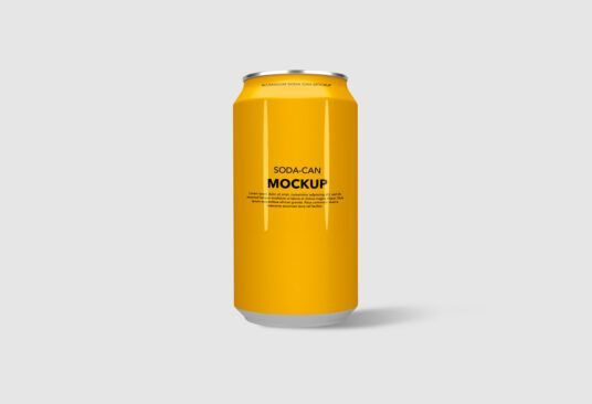 Free Soda Can Mockup (PSD)