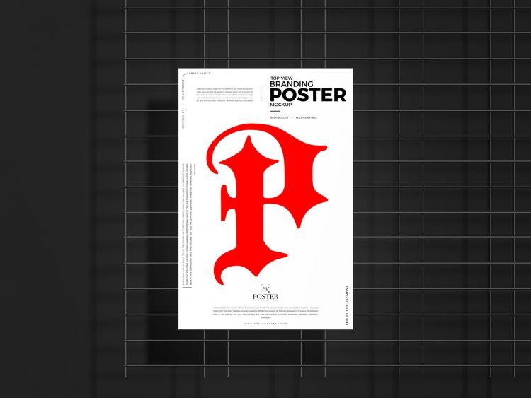 Free Top View Poster Mockup