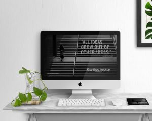 Free iMac Display Mockup (PSD)