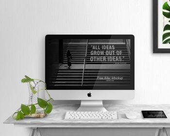 Free iMac Display Mockup (PSD)