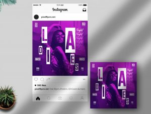 Girls Night Party Free Instagram Post Template (PSD)