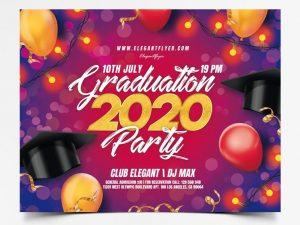 Graduation Celebration 2020 Free Flyer Template (PSD)