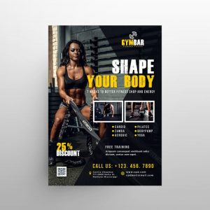 Gym Time Free Fitness Flyer Template (PSD)
