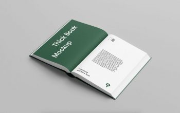 Hard Cover Open Book Free Mockup