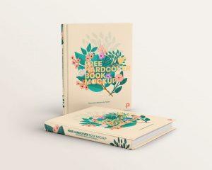 Hardcover Books Free Mockup