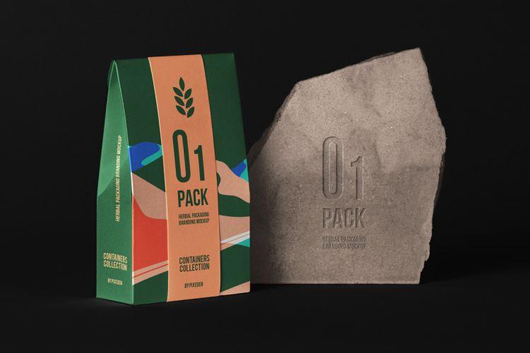 Herbal Bag Packaging Free Mockup (PSD)