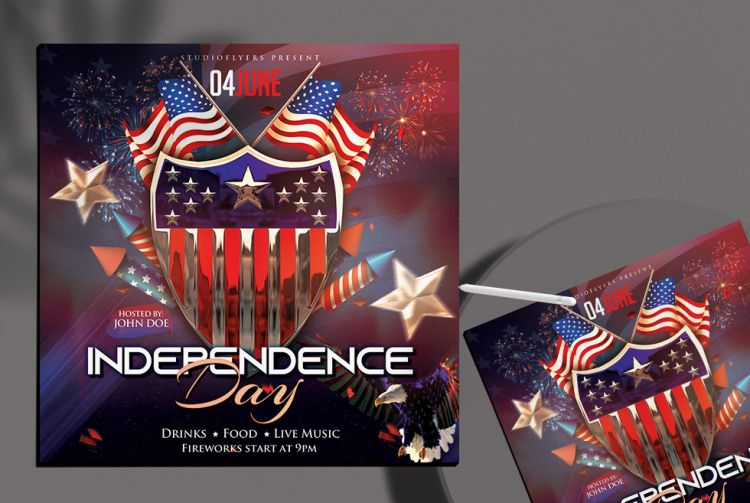 Independence Day 2020 Free Flyer Template (PSD)
