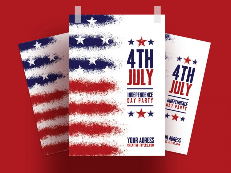 Independence Day Free Minimal Flyer Template (PSD)