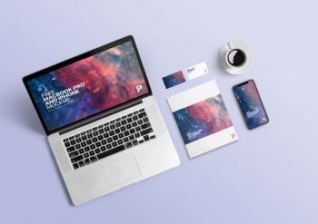 MacBook Pro and iPhone Free Mockup (PSD)