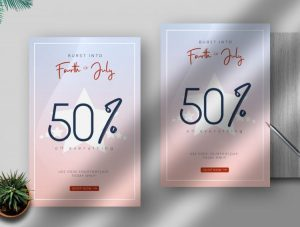 Mega Sale 4th July Free Flyer Template (PSD)