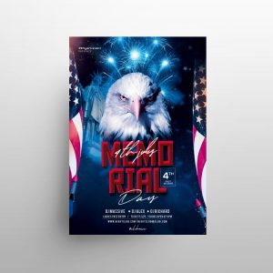 Memorial Day 2021 Free Event Flyer Template (PSD)