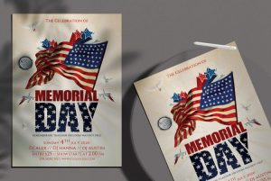 Memorial Day Party Free PSD Flyer Template