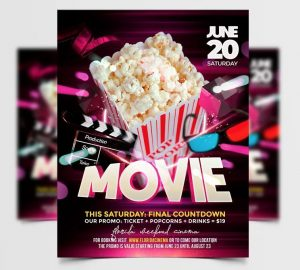 Movie Night Free PSD Flyer Template