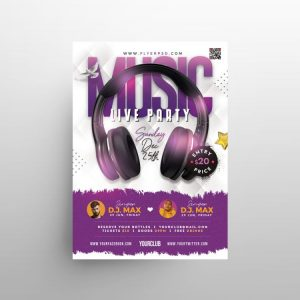 Music – Live Party Free PSD Flyer Template