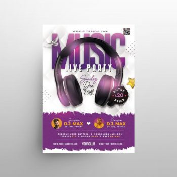 Music - Live Party Free PSD Flyer Template