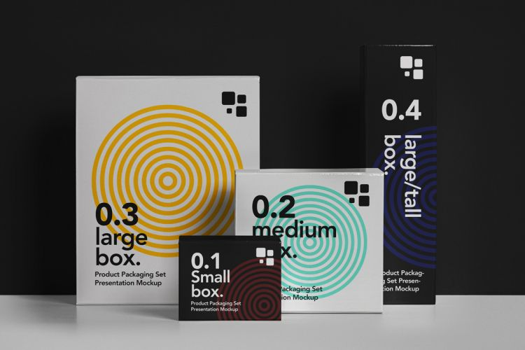 Packaging Box Free Mockup (PSD)