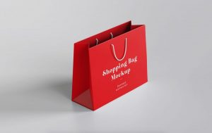 Paper Shopping Bag Free Mockup (PSD)