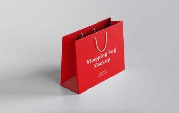 Paper Shopping Bag Free Mockup (PSD)