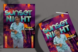 Party Summer Free DJ Flyer Template (PSD)