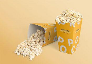 Popcorn Box Packaging Free Mockup