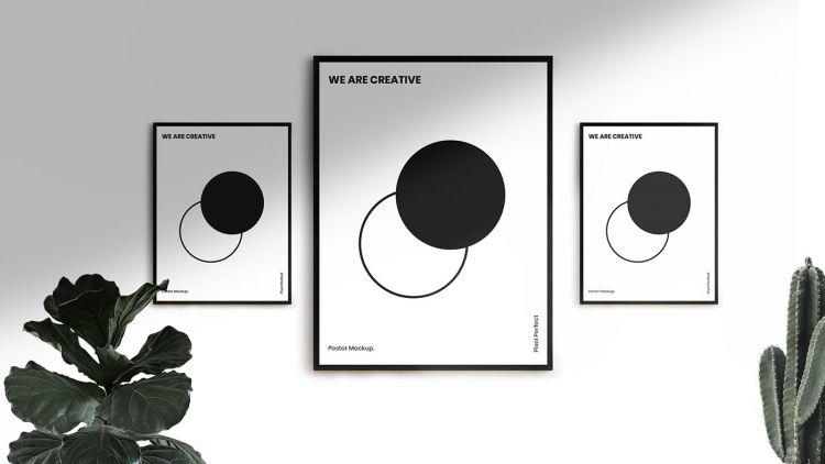 Poster Frame Free Mockup Set (PSD)
