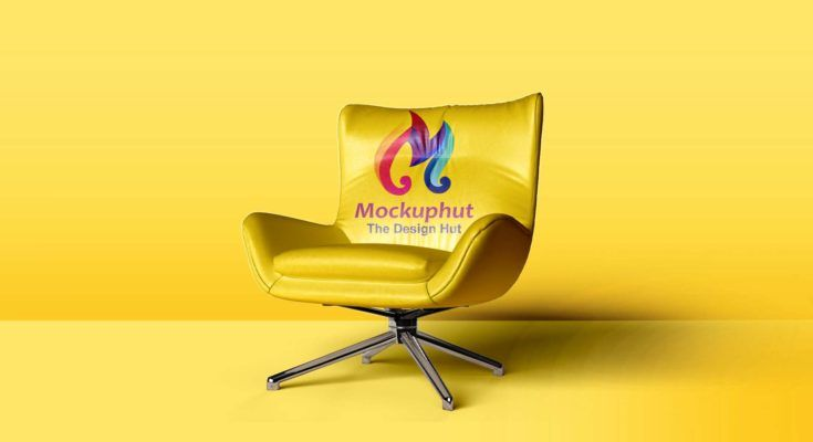 Realistic Chair Free Mockup