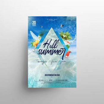 Sea Party Free Summer Flyer Template (PSD)