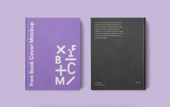 Simple Book Covers Free Mockup