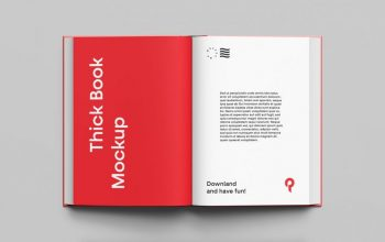 Simple Book Free Mockup (PSD)