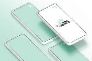 Simple White iPhone Free Mockup