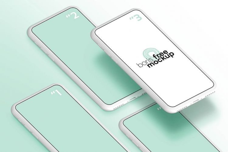 Simple White iPhone Free Mockup